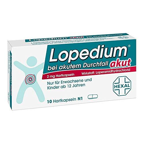 Preisvergleich Produktbild Lopedium akut bei akutem Durchfall Hartkapseln,  10 St