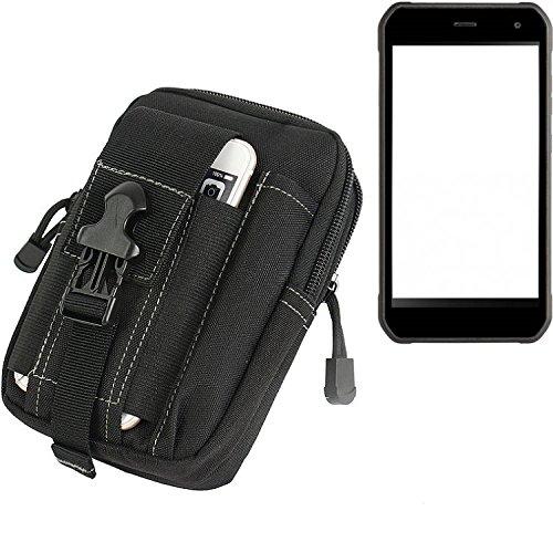K-S-Trade Gürtel Tasche Für Cyrus CS 40 Gürteltasche Holster Schutzhülle Handy Hülle Smartphone Outdoor Handyhülle Schwarz Zusatzfächer