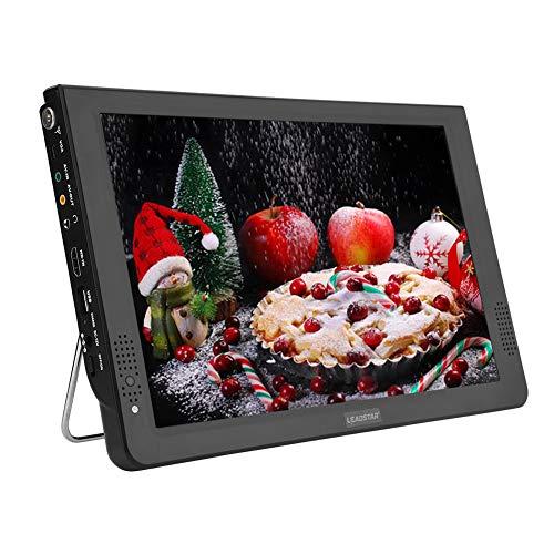 Portable TV, 12inch Digital Analog Televisions Portable DVB-T-T2 Handheld 1080P HD TV with USB Port...