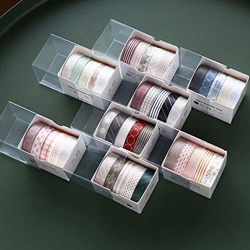 Washi Tape Set, 40 Rollen dekorativer Klebstoff Washi Masking Tape Sticker im japanischen Stil für Kunst und Heimwerker, verschönern Bullet Journals, Planer, Scrapbooking