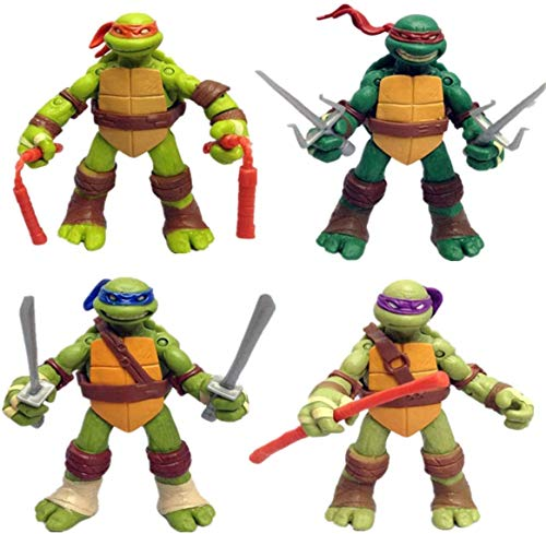 Ninja Turtles Set of 4 Pieces | Teenage Mutant Turtles Action Figure | Action Figures | Ninja Turtles Toy Set - Ninja Turtles Action Figures Mutant Teenage Set