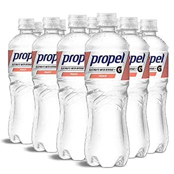 Propel Peach Zero Calorie Water Beverage with Electrolytes & Vitamins C&E 24 Fl Oz pack of 12