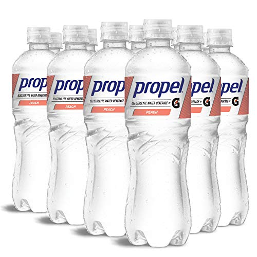Propel, Peach, Zero Calorie Water Beverage with Electrolytes & Vitamins C&E, 24 Fl Oz, pack of 12