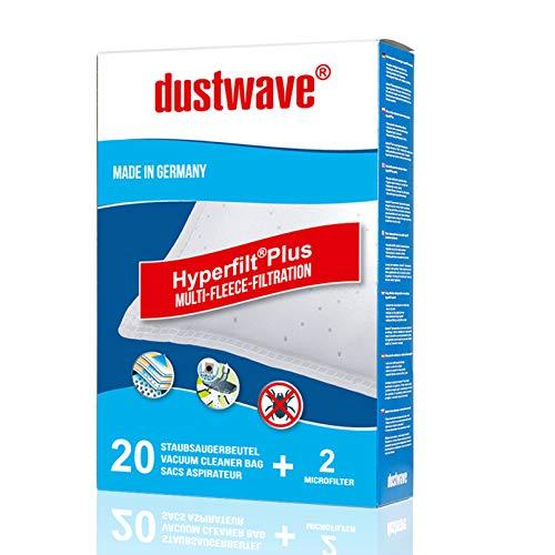 40 Staubfilterbeutel (Superpack) | Filtertüten geeignet für Mia - BS 868 Jambo Bodenstaubsauger von dustwave® Markenstaubbeutel – Made in Germany + inkl. Micro-Filter
