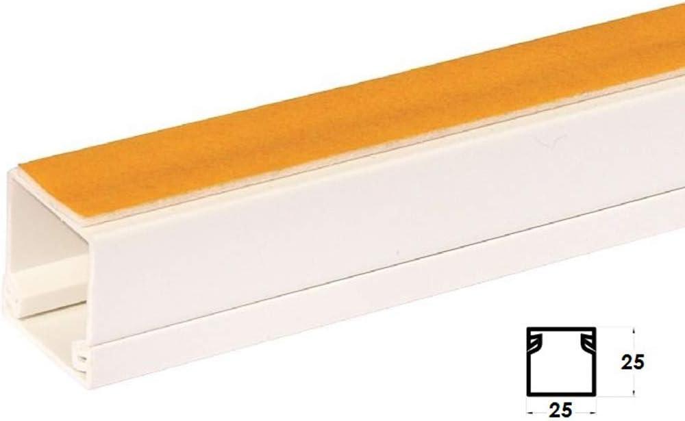 ENVA/® Goulotte de c/âble /électrique auto-adh/ésive en PVC Blanc 2 m 10, 16 x 16 mm