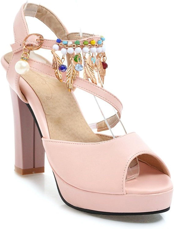 Women's Sandals High Heels Kaitzen Fashion Shiny Ankle Platform Buckle Pump Court shoes Evening Party Pink