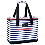 SCOUT The Stiff One Cooler Bag, Insulated, Collapsible, Leak Proof, Lightweight, and Portable Soft Cooler Beach Bag with Hard Bottom in Ship Shape Pattern (Multiple Patterns Available)