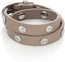 Tory Burch Double Wrap Logo Studded Bracelet