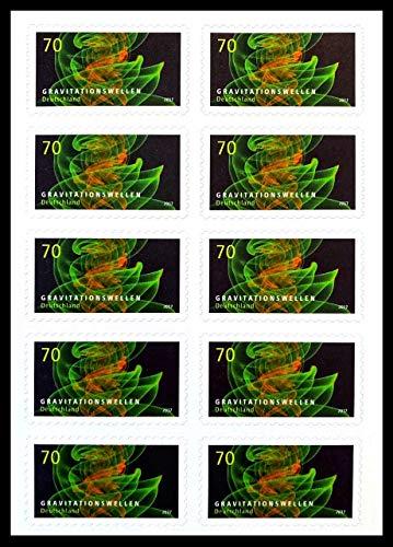 Markenset Astrophysik Gravitationswellen, Briefmarke zu 0,70 €, 10er-Set selbstklebend