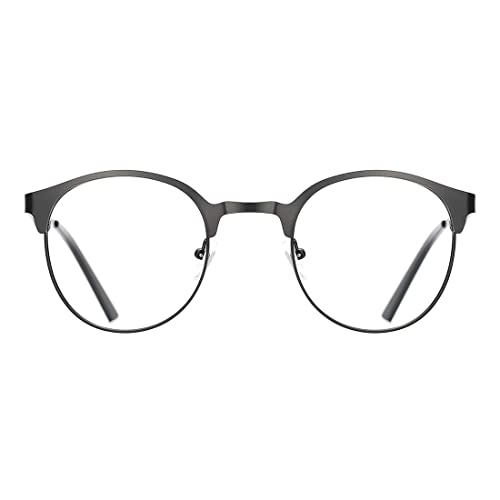 cd700462c70a TIJN New Round Designer Metal Eyeglasses Frames with Clear Lens