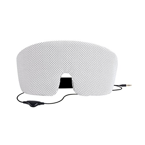 AGPTEK Ultra Thin Speakers with Mic and Volume Control for Sleep Headphones, Headband Headphones Replacement, Black (Silver)