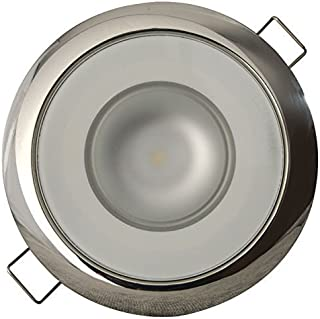Lumitec LED Exterior or Interior Down Light, Flush Mount, High Output, Slim Profile (Renewed)