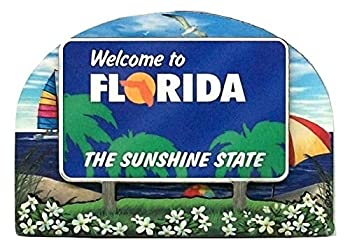 Florida State Welcome Sign Wood Fridge Magnet 2