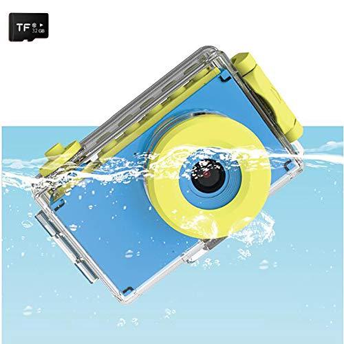 Sharesun Onderwater-camera voor kinderen, met digitale camera, 12 MP, waterdicht, voor kinderen, met LCD-display, 2 inch HD 1080p en 16 GB SD-kaart