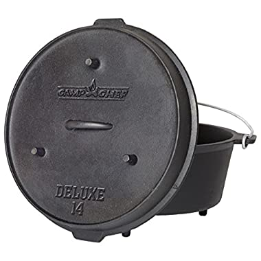 Camp Chef DO-14 Pre-Seasoned Deluxe 12-Quart 14  Dutch Oven with Lid