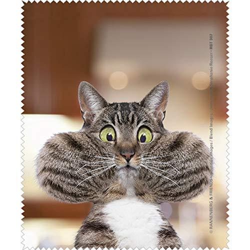 Rannenberg & Friends Reinigungstuch Brillenputztuch Katze Puhh, Microfasertuch Reinigungstücher Brillenputztücher Tücher Kätzchen