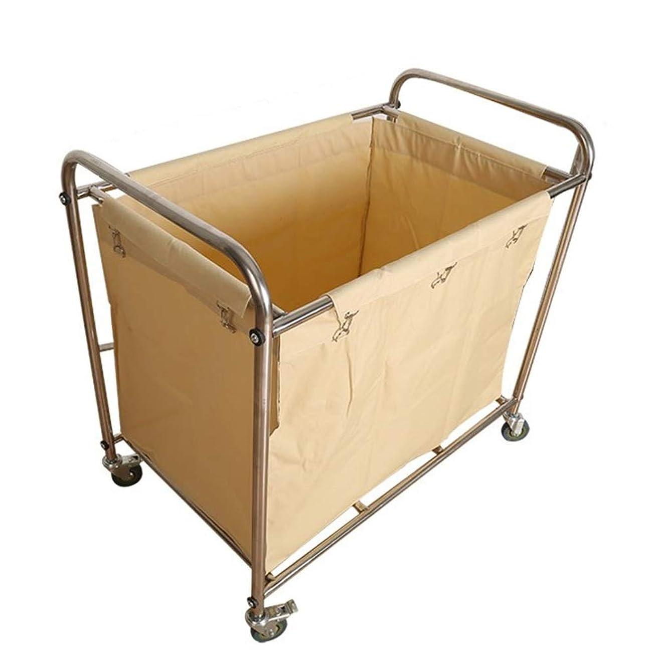反映するボランティア経験的商業サービングカートのトロリー - 圧延の車輪が付いている洗濯の選別機の妨害車、家/大広間/産業のための洗浄のバスケット
