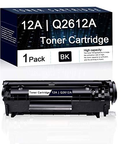 1 Pack Black 12A | Q2612A Compatible Toner Cartridge Replacement for HP Laserjet Pro 1022 1018 Pro 3052 MFP 3055 MFP 3050 MFP 3030 MFP M1319f M1120 MFP M1005 MFP Printers