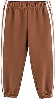 YESOT Little Boys Sweatpants Elastic Band Striped Sports Pants Run Play Football Trousers