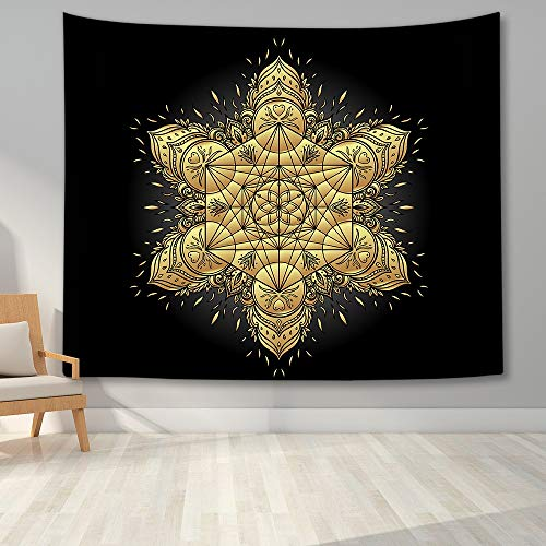 KHKJ Tapiz de Mandala para Colgar en la Pared, decoración Boho, tapices de Tela para Pared, Tapiz Bohemio psicodélico, Alfombra de Pared de Mandala A10 200x150cm