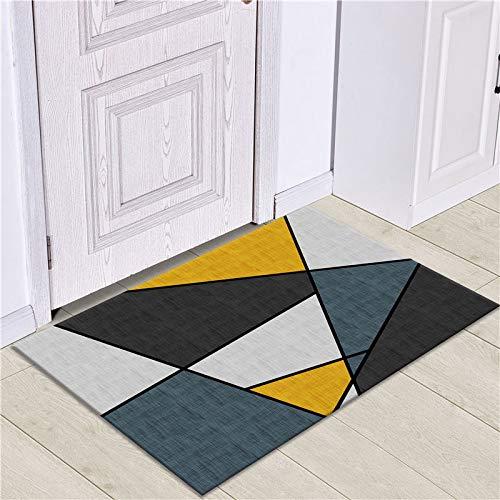 WESG Alfombrillas de impresión geométricas Modernas, Alfombrillas Antideslizantes de Cocina, Alfombrillas de Sala de Estar y alfombras absorbentes de baño NO.13 50X80cm