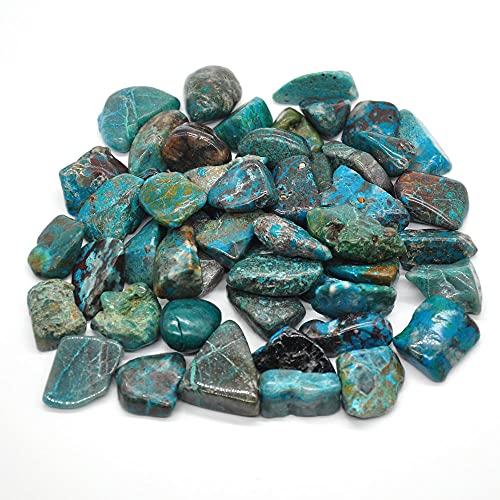 100g Crisocola natural Piedras caídasCristales agranelReiki Piedras preciosas pulidas Gema Minerales de decoración de acuario crudos-100g