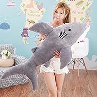YYKKWWXX ぬいぐるみのサメのおもちゃぬいぐるみシミュレーション大きなサメの人形の枕子供のためのクッションのおもちゃ誕生日プレゼント