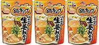 【3個セット】味の素 鍋キューブ ぽかぽか生姜 みそ鍋 パウチ 8個入り