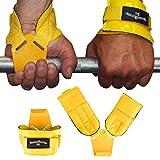 Fitnessexpress24 Zughilfen Klimmzughaken Latzughilfen Griffhilfen Gelb