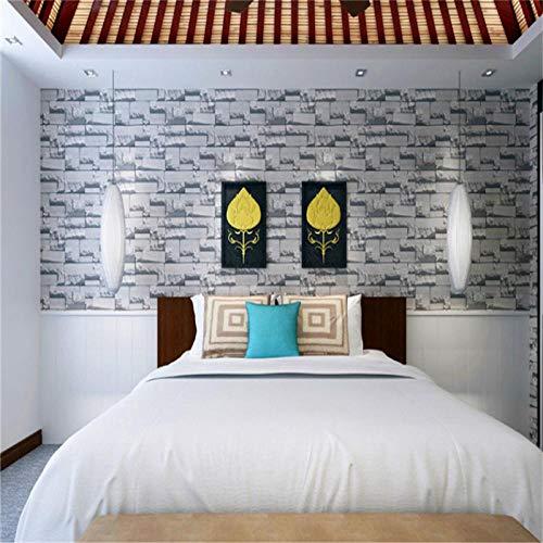 Behang witte stenen tegels vliesbehang strepen moderne Home Style vliesbehang wandbehang decoratie 10M Unitbehang voor woonkamer slaapkamer kantoor
