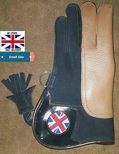 Altawash Gant de fauconnerie double peau en nubuck, drapeau britannique, 30,5 cm, petite taille.