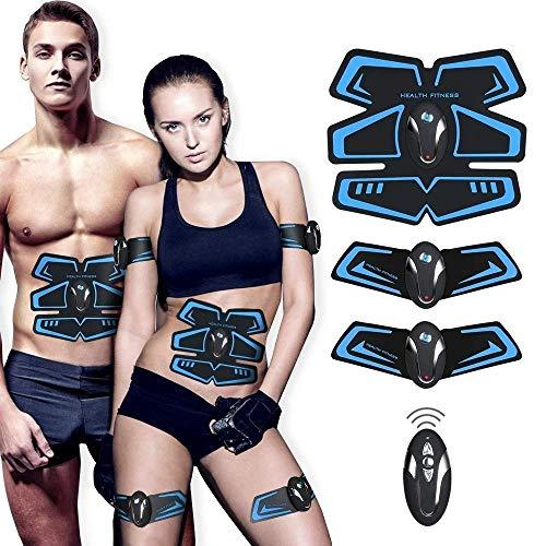 ZHENROG Elettrostimolatore per Addominali, Elettrostimolatore Muscolare Professionale per Braccio/Gambe/Glutei, EMS con USB Ricaricabile, 6 modalità e 10 Livelli di Intensità