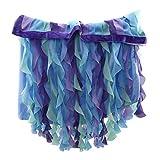 SJHFG - Falda de mesa de hilo colorido para decoración de mesa de cumpleaños, banquete de boda, accesorios para zócalos, color azul marino