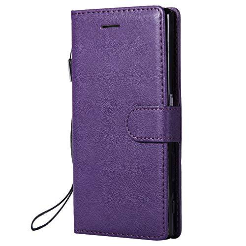 Jeewi Hülle für Sony Xperia Z5 Hülle Handyhülle [Standfunktion] [Kartenfach] [Magnetverschluss] Tasche Etui Schutzhülle lederhülle klapphülle für Sony Xperia Z5 - JEKT051760 Violett