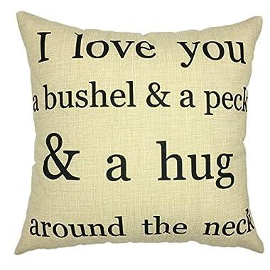 YOUR SMILE Inspirational Cotton Linen Decorative Throw Pillow Case Cushion Cover Pillowcase for Sofa 18 x 18 Inch