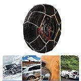 Antideslizante Cadena de nieve Portátil Cadenas de neumáticos for coche Fácil de instalar (3 pasos) Invierno Emergencia cadenas de neumáticos (Size : 225/65-17)