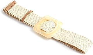 Braided Belts Women Round Wooden Smooth Buckle Girdle Waistband