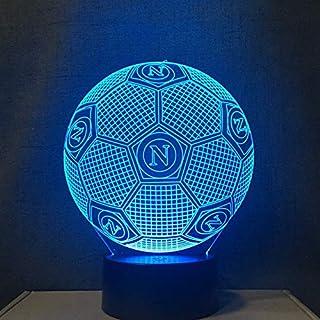 Aeemi 3D Led Nachtlicht Farben Ändern Italien Ssc Napoli Dekoration Lampe Fußball Tischlampe Usb Touch Licht Kinder Vater Geschenk
