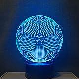 3D Led Night Light Colors Cambiare Italia Ssc Napoli Home Decoration Lampada da tavolo Lampada da tavolo Usb Touch Light Bambini regalo padre