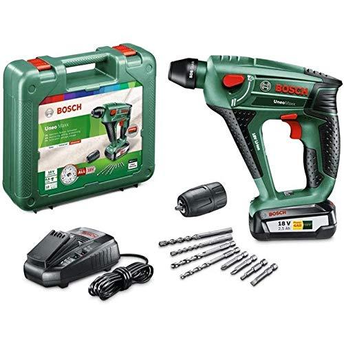 Perforateur sans fil Bosch - UneoMaxx (Livré avec 1 Batterie 18V-2,5Ah, Système 18V, Coffret)