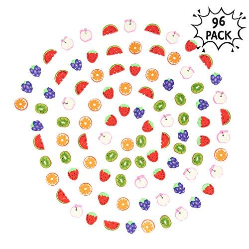 THE TWIDDLERS 96pcs Radiergummi Kinder - Kleine Radiergummis für stundenlangen Spaß und Lernen - Schulsachen Kindergeburtstag Gastgeschenke, Pinata Füllungen Kinder Kleine Mitgebsel