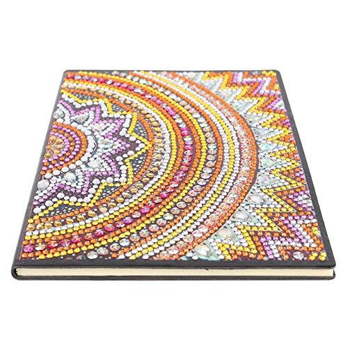 DIY Diamante Pintura Bloc de notas Regalo Día del padre 50 páginas A5 Bloc de notas inalámbrico Mandala Regalo colorido creativo 5D Diamante Cuaderno creativo Cuaderno de bocetos Bloc