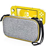 Carry Case for Nintendo Switch Lite - LOGROTATE Portable Hard Shell Travel Carrying Bag, Switch Lite Waterproof Case Cover with storage for Switch Lite Console & Accessories & Game Cards, Yellow