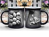 Amymami Personalized Gifts Heat Changing Magic Coffee Mug - Nutcracker Hammer Nutshell Diet Health Macro