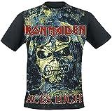Iron Maiden ACES High Homme T-Shirt Manches Courtes Noir XL, 100% Coton, Regular/Coupe Standard