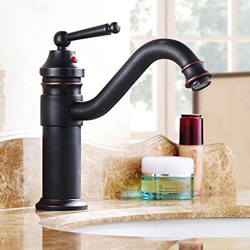 Olici MDRW badkamer waterkraan alle koper goud grote kraan antieke hete en koude waterkraan retro - hoge uniforme gat tabel (waterkraan