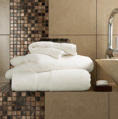 8 tlg. Handtuch, ägyptische Baumwolle, besonders weich, Top Qualität, Miami, 2 x Badetücher, 2 Duschtücher, 4 Handtücher, Cremefarben