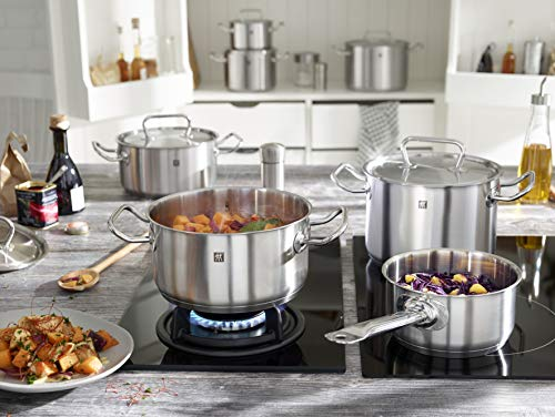 Zwilling Twin Classic - Batería de cocina, 5 piezas, Acero inoxidable, Apto para todo tipo de cocinas, incluída inducción