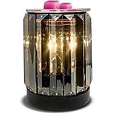 Leyoue Wax Melting Heater Electric Burning Wax Burner Electric Wax Essential Oil Warmer Incense Wax Melt Warmer Night Light Aroma Decorative Lamp for Gifts & Decor(Ironwork Crystal)