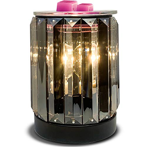 Leyoue Wax Melting Heater Electric Burning Wax Burner Electric Wax Essential Oil Warmer Incense Wax Melt Warmer Night Light Aroma Decorative Lamp for Gifts & Decor(Ironwork Crystal)